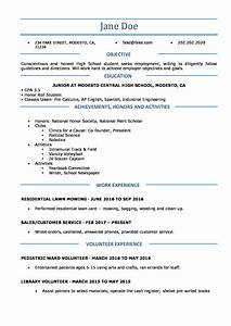 College Student Resume Objective Sample High School Resume Resumes Perfect For High School Students