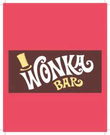 wrap paper willy wonka chocolate bar party invite forward design