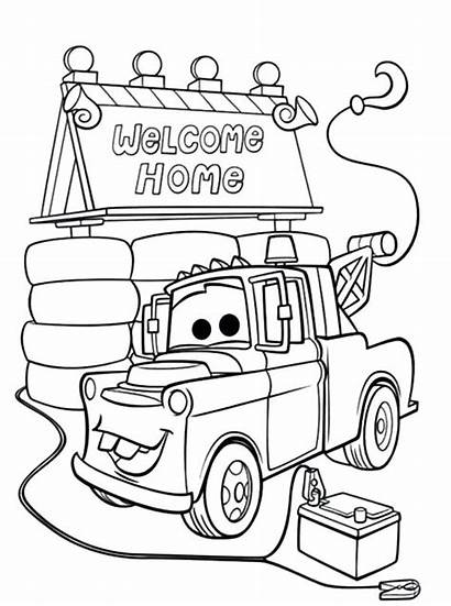Coloring Pages Mater Tow Welcome Alone Oh