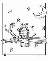 Coloring Night Pages Owl Animal Animaljr Colouring Activities Owls Printables Printer sketch template