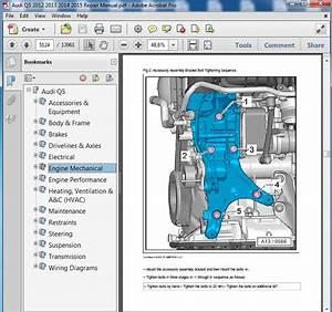 Audi Q5 2012 2013 2014 2015 Repair Manual