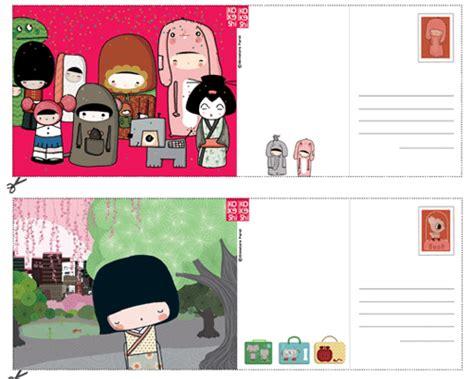 Carte Postale Gratuite by Bricolage 4 Cartes Postales Kokeshi Gratuites Pour Votre