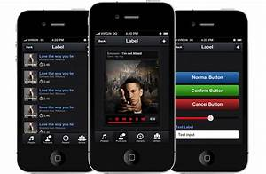 podradio iphone and ios app ui design templates With iphone app design template free