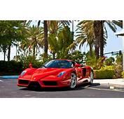 Ferrari Enzo Red Car Parking HD Desktop Wallpaper