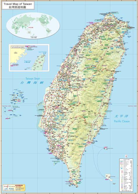 taiwan travel map taiwan tourist map taiwan attraction map