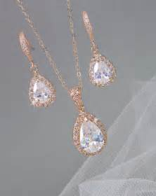 bridesmaid jewelry set gold bridal set bridesmaids jewelry set pendant and earrings wedding jewellery