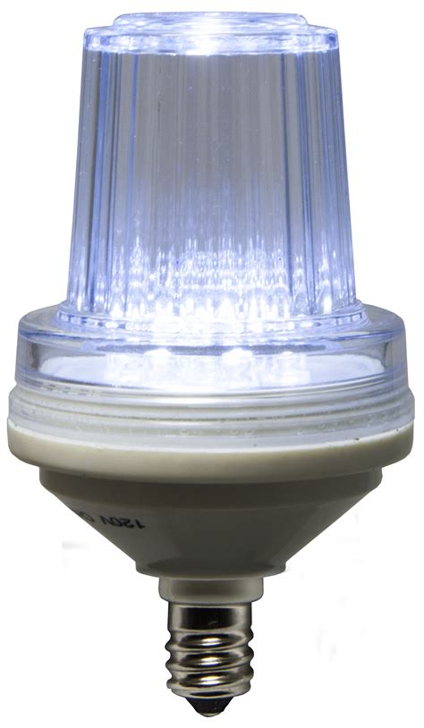 strobe commercial twinkle cool white led christmas bulbs