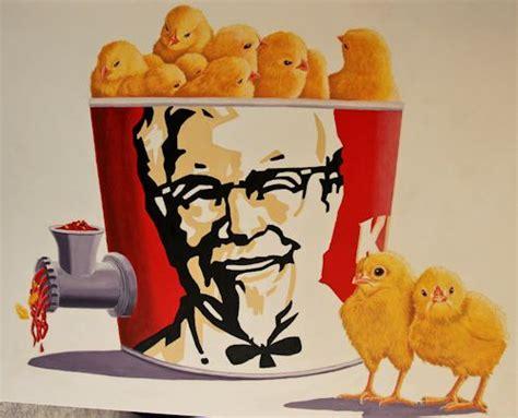 day  chicks   kfc tub spitting  meat