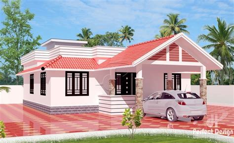 2 Bhk Home Design Image : 1050 Square Feet 2 Bedroom Traditional Style House Design