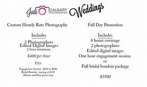 hourly rate wedding and full day promotional packages With wedding photography rates per hour