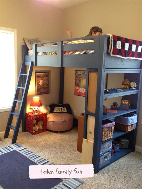 diy loft bed plans family fun magazine wooden  floating