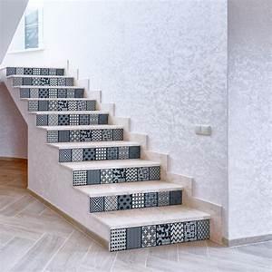 Escalier Carreaux De Ciment : stickers escalier carreaux de ciment yorik x 2 ambiance ~ Dailycaller-alerts.com Idées de Décoration
