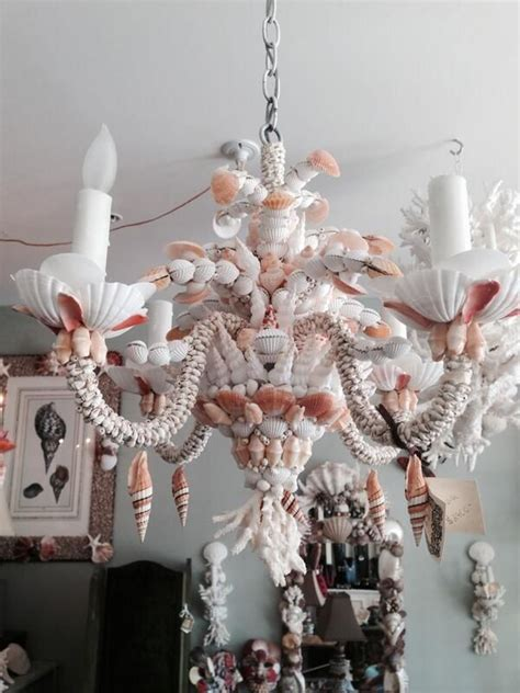 Seashell Chandelier Lighting by 204 Best Seashell Chandeliers And Candelabras Images On