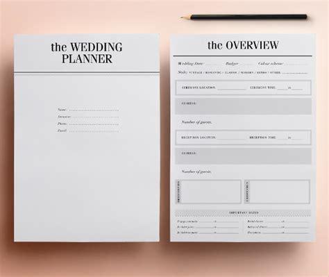 wedding planner samples sample templates