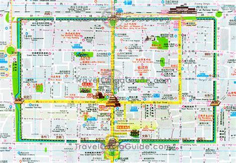 xian map toursmapscom
