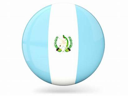 Guatemala Round Icon Flag Glossy Commercial Non