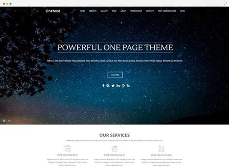 page wordpress theme  web design onetone