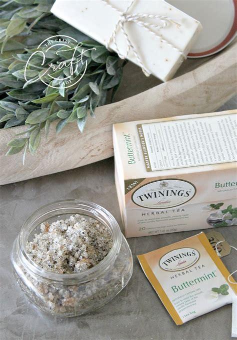 homemade herbal tea sugar scrub  crazy craft lady