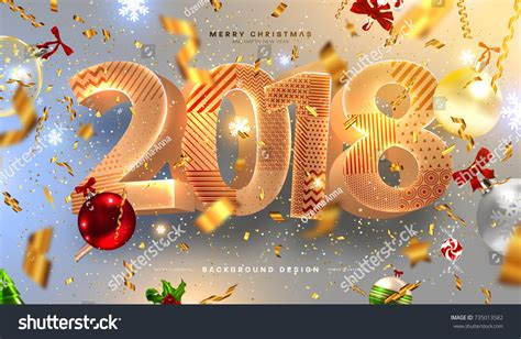 merry christmas happy  year  stock vector