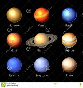 Planets Of Solar System Icons. Vector Stock Vector - Image ...