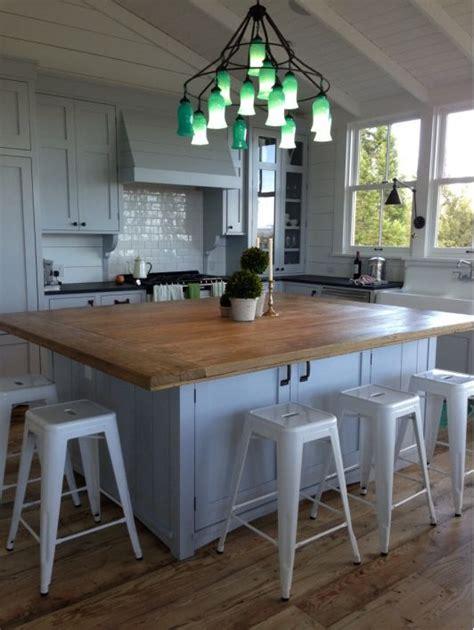 kitchen  wooden island table oversized kitchen
