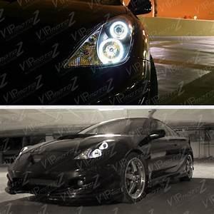 L R Jdm Black Halo Angel Eye Projector Headlight Lamp 00 Gts