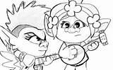 Barb Poppy Queen Trolls Tour Redraw Amino Troll Rainbow sketch template