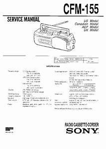 Sony Cfm-155 Service Manual