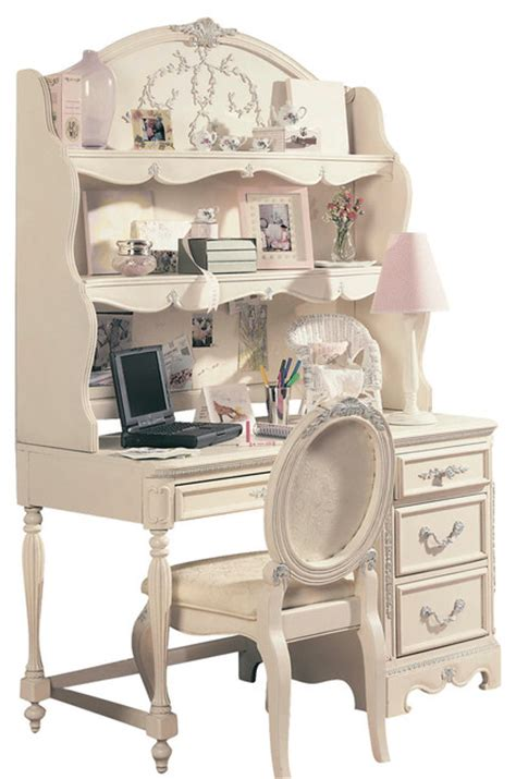kids white desk with hutch lea jessica mcclintock computer desk with hutch and chair