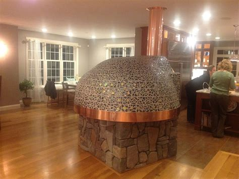 fused glass tiled pizza oven adds flavor  bolton ma home