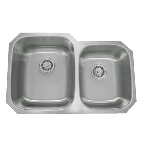 60 40 stainless steel sink 32 quot stainless steel double bowl undermount sink 60 40 py