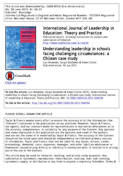 international journal  leadership  education