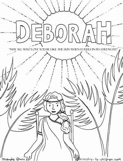 Coloring Deborah Children Ministry Bible Pages Judge