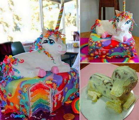 rainbow unicorn cake pictures   images