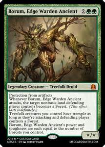 treefolk custom cards and commander custom card creation