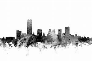Oklahoma City Skyline Digital Art by Michael Tompsett