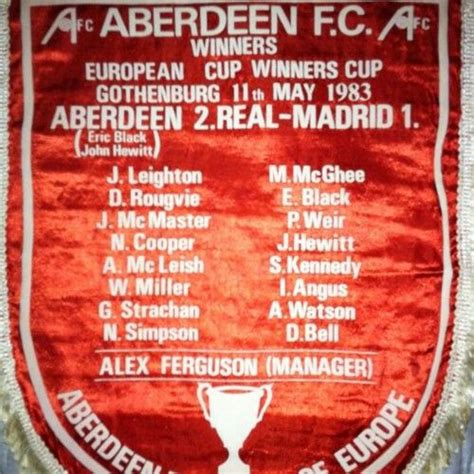 Aberdeenfc Gothenburg 83 | Aberdeen football, Aberdeen ...