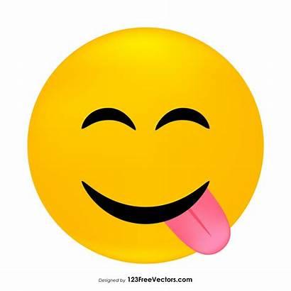 Emoji Clipart Face Vector Savoring Sad 123freevectors
