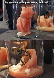 Cat Skeleton Candles