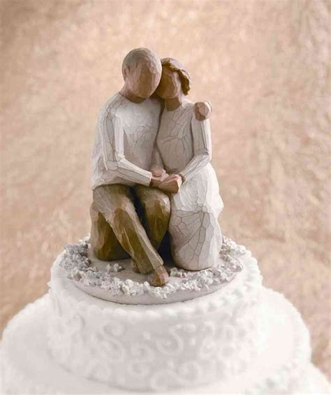 willow tree anniversary cake topper wedding collectibles