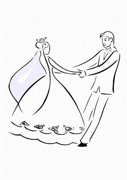 Coloring Pages Weddings Bride Printable Colouring Second