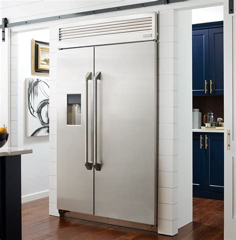 built    standing refrigerators monogram kitchens