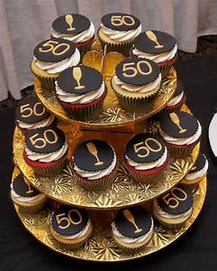 Black & Gold 50th Birthday Cupcakes - - Cake in Cup NY