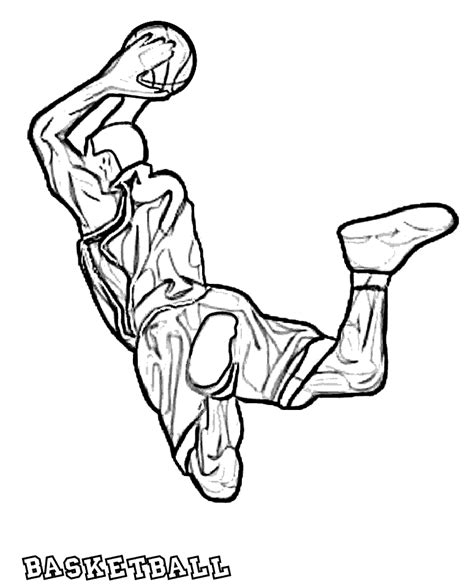 basketball coloring pages  coloring kids