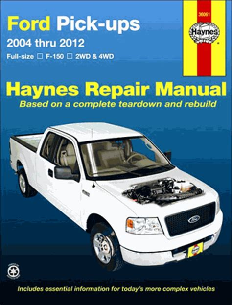 ford  pickup truck repair manual   haynes