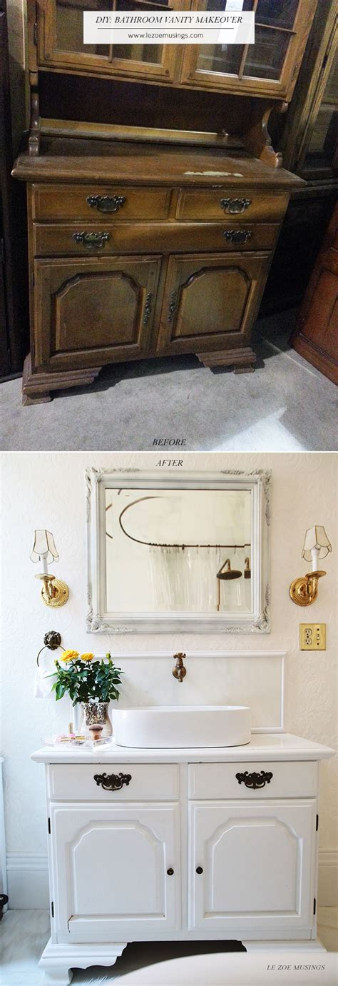 ideas  bathroom vanity makeover  pinterest