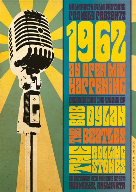 foto de 1962 influenced Open Mic Night Poster Design History