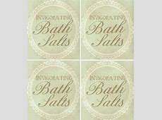 Bath Salts printable label Beauty Products Homemade