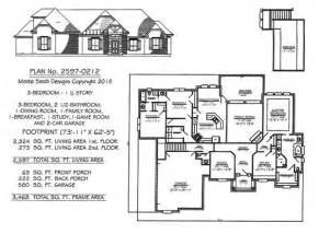 House Plans With And Bathroom 3 Bedrooms 1 Story 2201 2700 Square