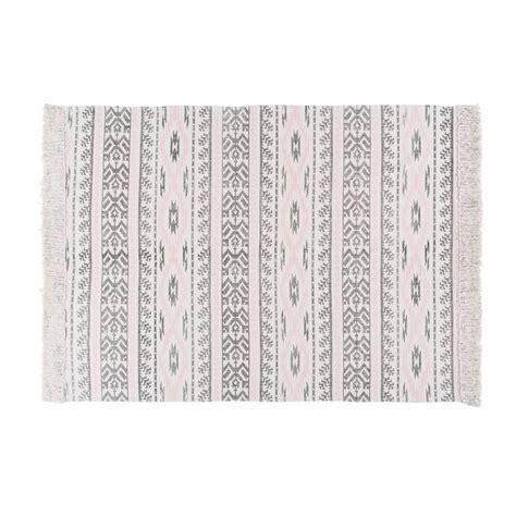 tapis en coton motifs graphiques  andreas maisons